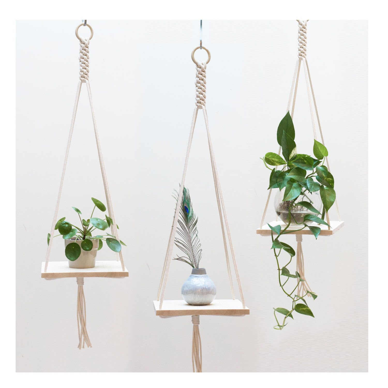 Macrame Plant Hanger / Macrame shelf hanging / Plant ...