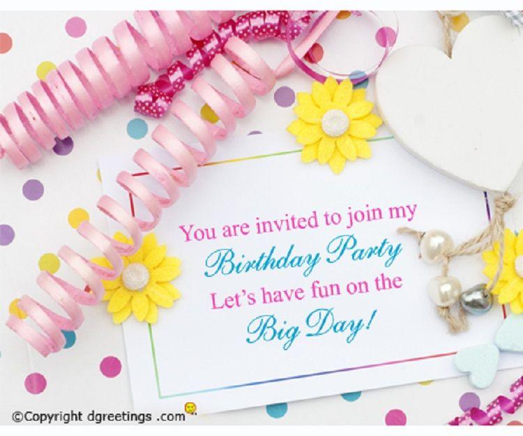 Happy Birthday Invitation Card With Name Hindi
