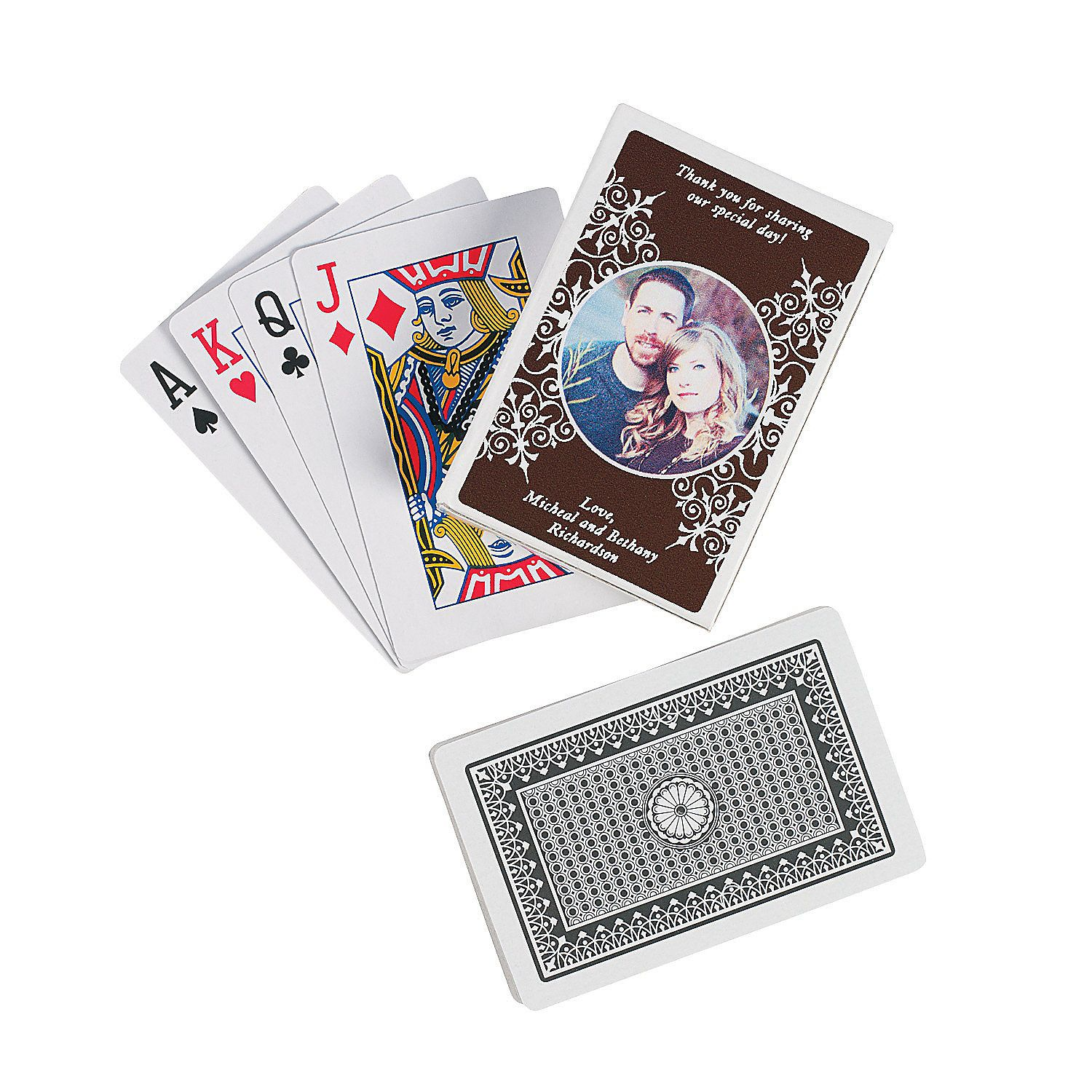 Chocolate Brown Custom Photo Playing Cards - OrientalTrading.com ...