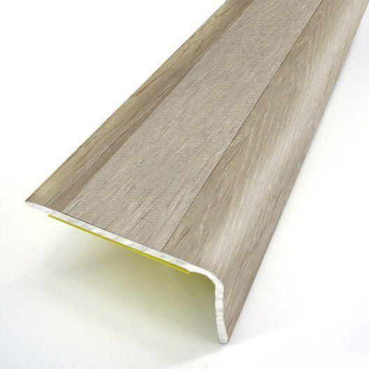 Nez De Marche Aluminium Revetu Deco Decor Chene L 95 X L 3 6 Cm Nez De Marche Sol Pvc Moquette