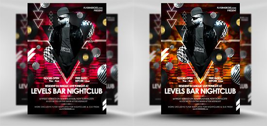 Lebels Free Nightclub Flyer Templates Psd Photo Poster Template Flyerheroes