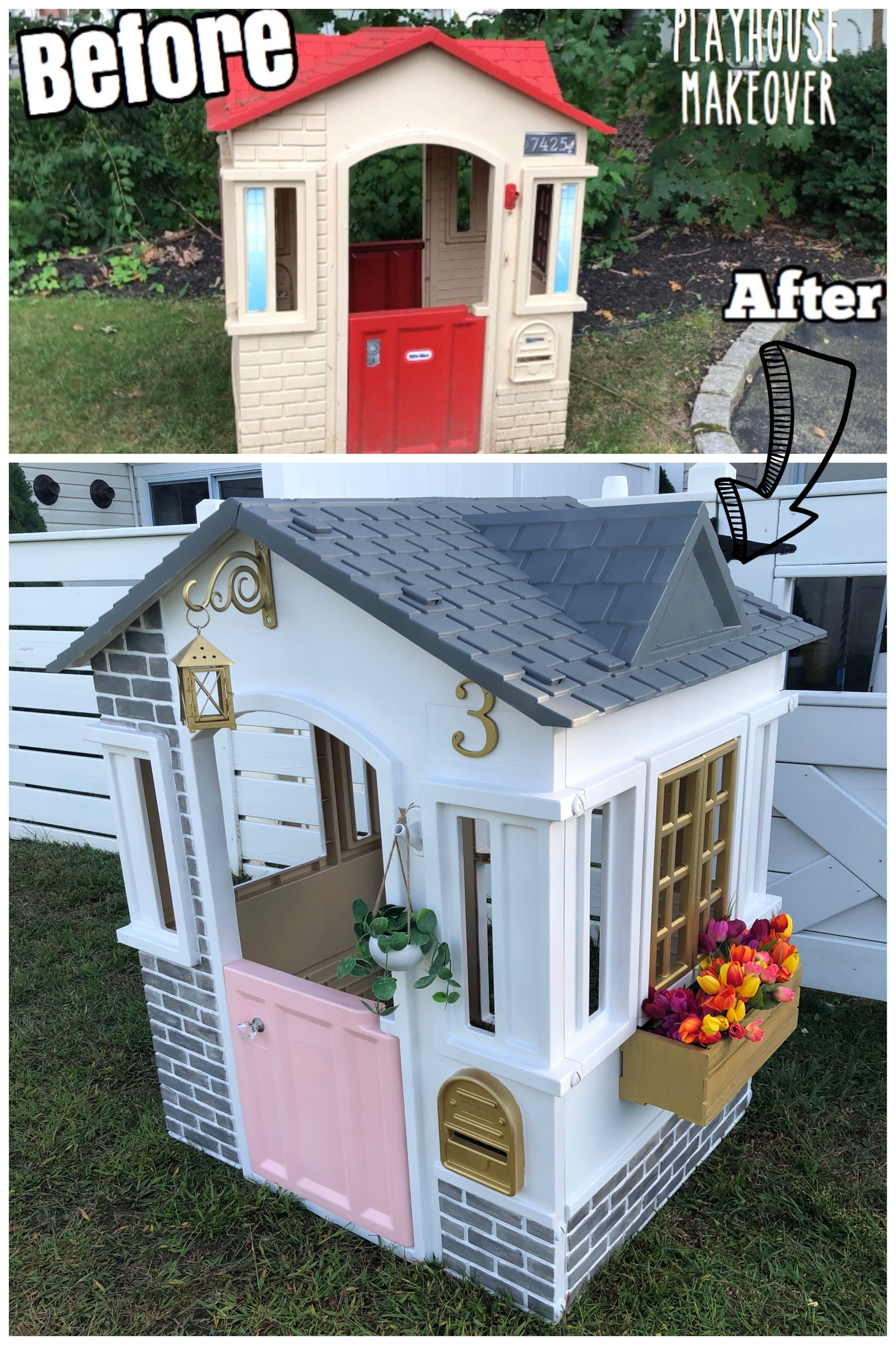Pin By Jen Bilderback On Kids Toys Play Houses Cubby Makeover Outdoor Play Space