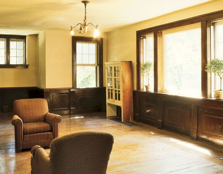 Rooms with Dark Wood Trim | All the trimmings | house paint ideas ...