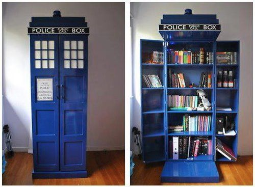Doctor Who Police Box Bookcase So Cool