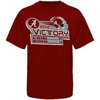 Alabama Crimson Tide vs. Michigan Wolverines 2012 Victory Score T-Shirt #Fanatics