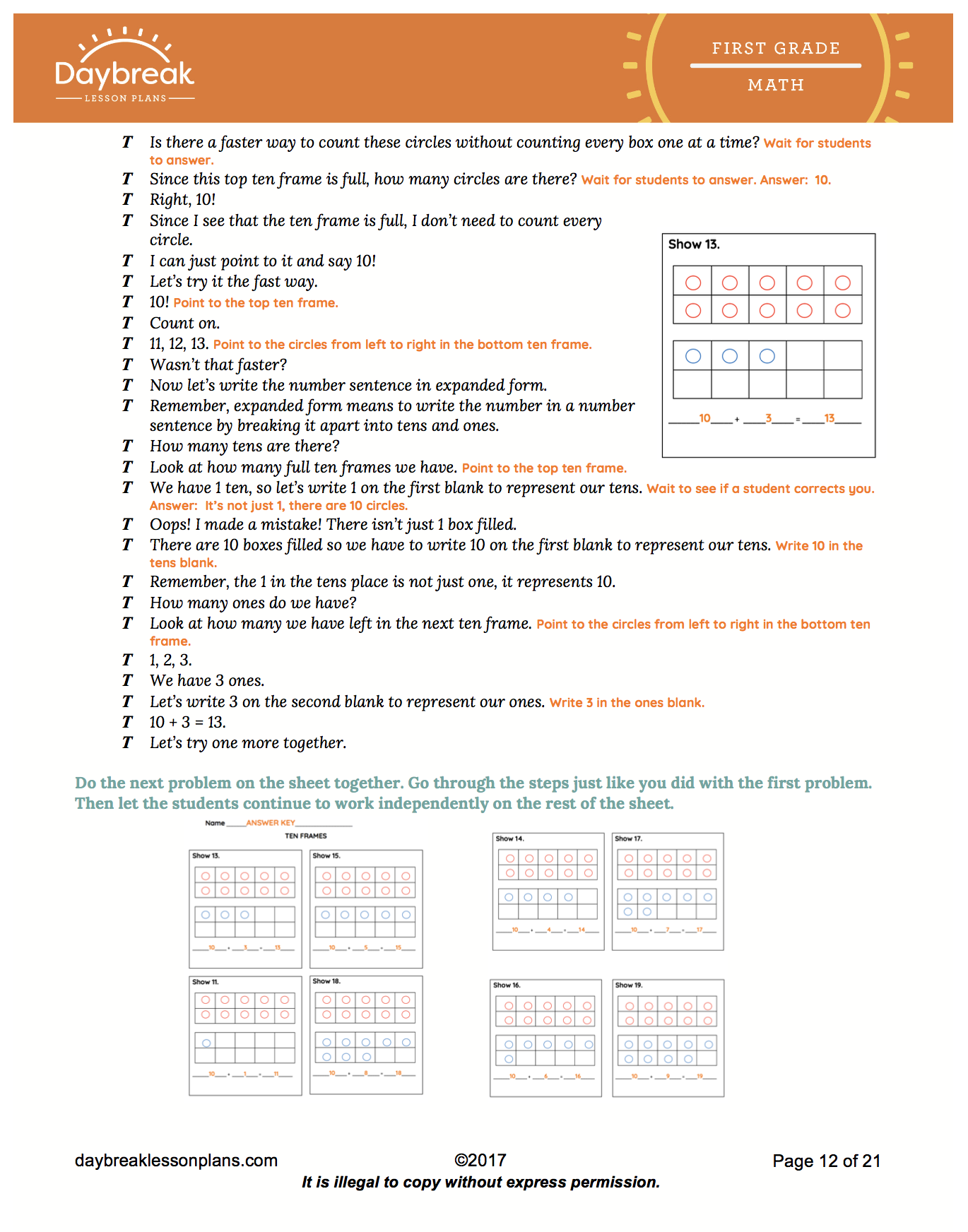Groupings Of Tens And Ones Bundle