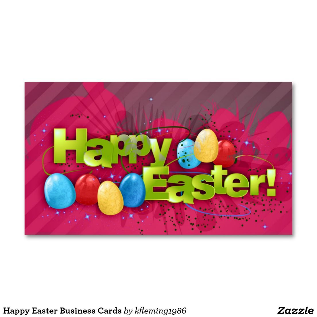 Happy Easter Business Cards Zazzle Com Happy Easter Business Cards Cards [ 1104 x 1104 Pixel ]