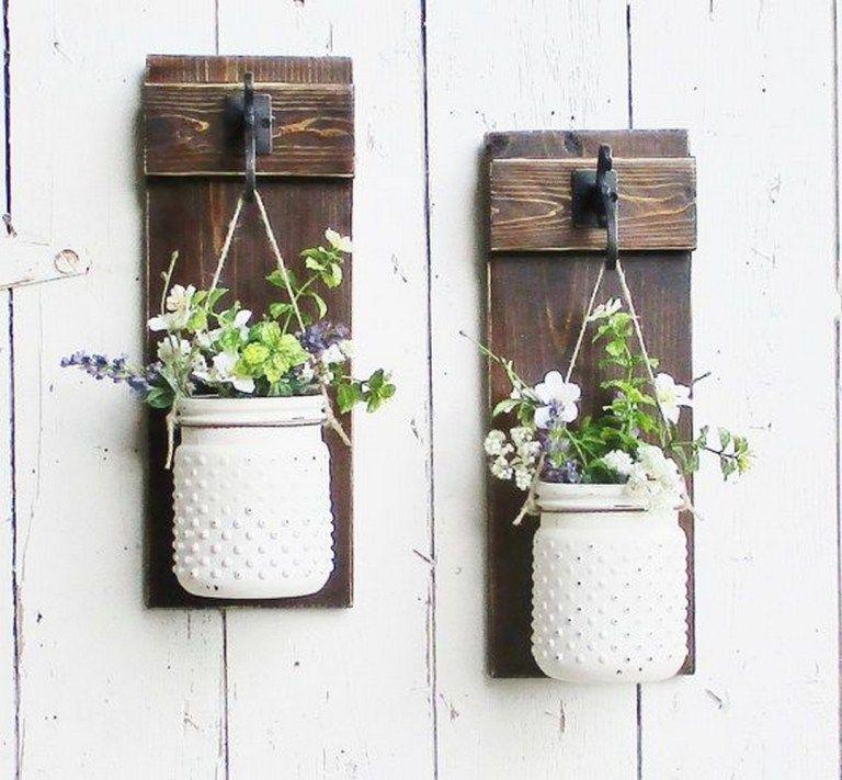 99 DIY Simple Outdoor Wall Decorations Ideas (79)