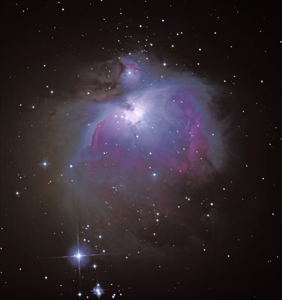 Astrophotographer Jeffrey P. Nunnari sent in his photos of nebulas M42 and M43. Photos undated and location unspecified.