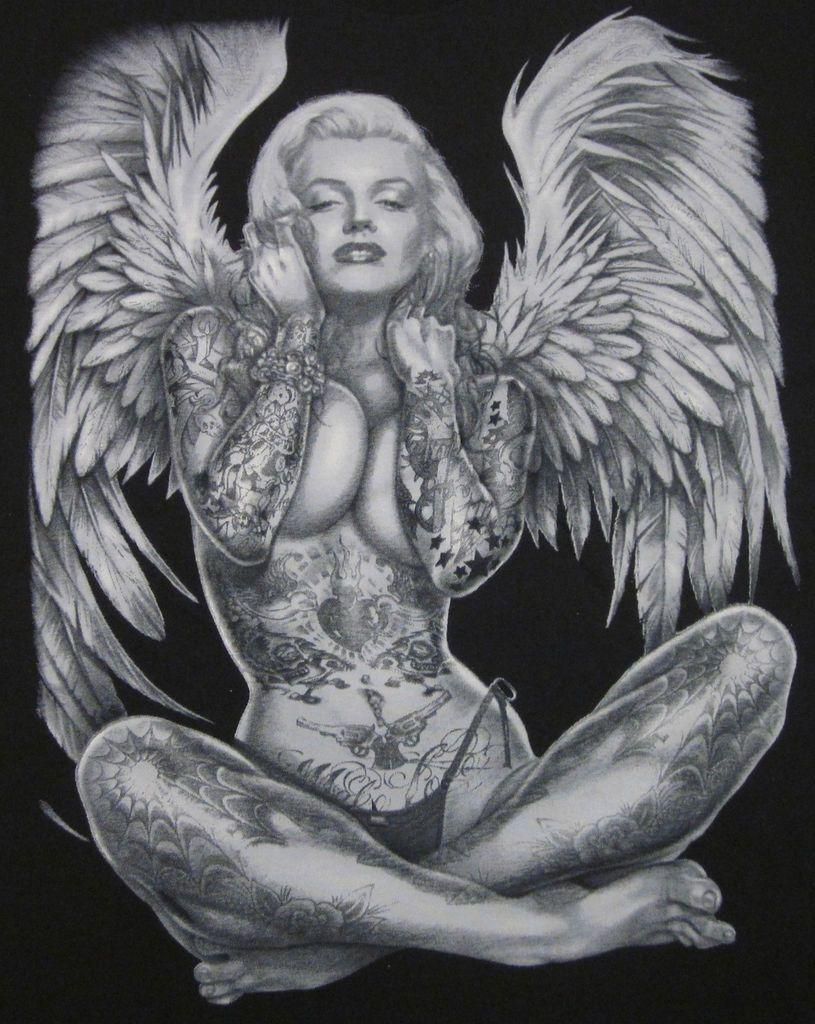 Angel wings kisses in sex