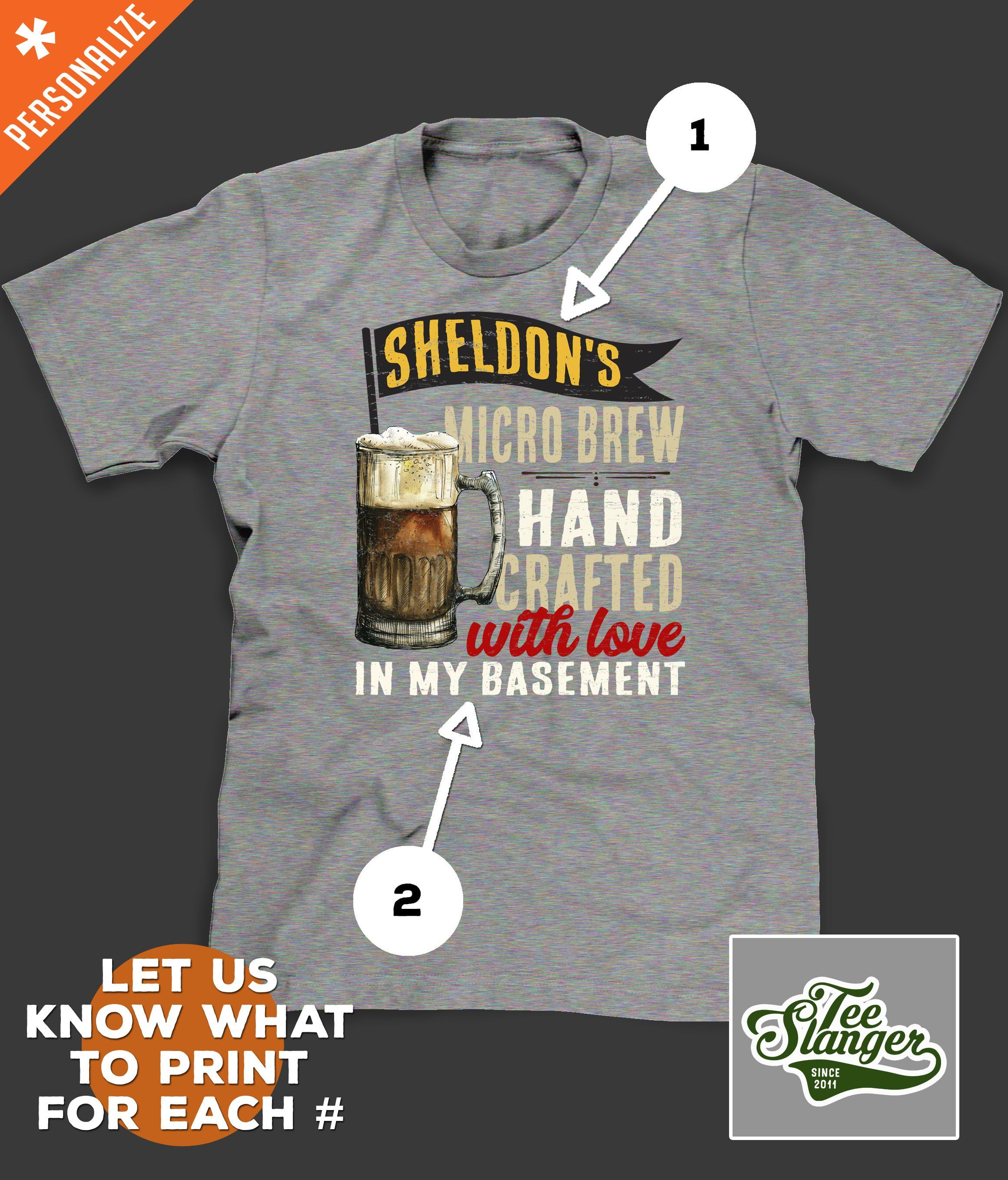 9b4c4feba14c Home Brew Personalized T-shirt – Teeslanger Best. Gift. Ever. -free  personalization -free shipping in the US -top quality tees #homebrew #beer  #beershirts ...