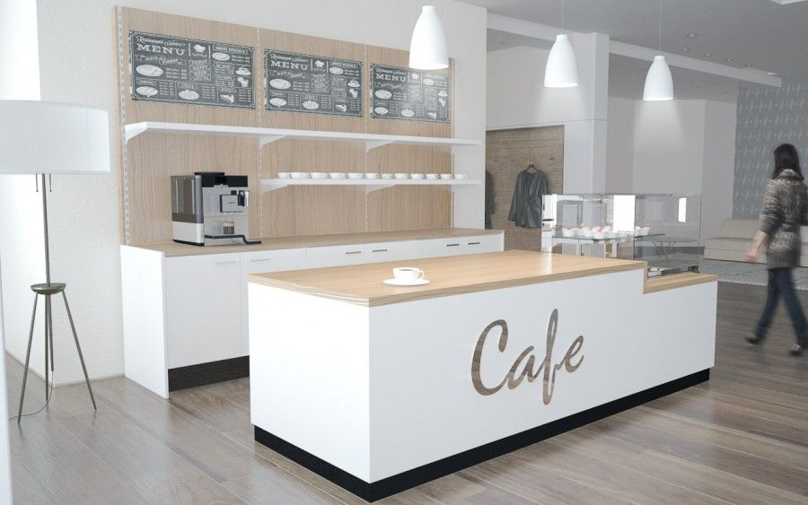 Cafeeinrichtung Theke Mit Kuhlaufsatz Und Ruckbuffet About抱