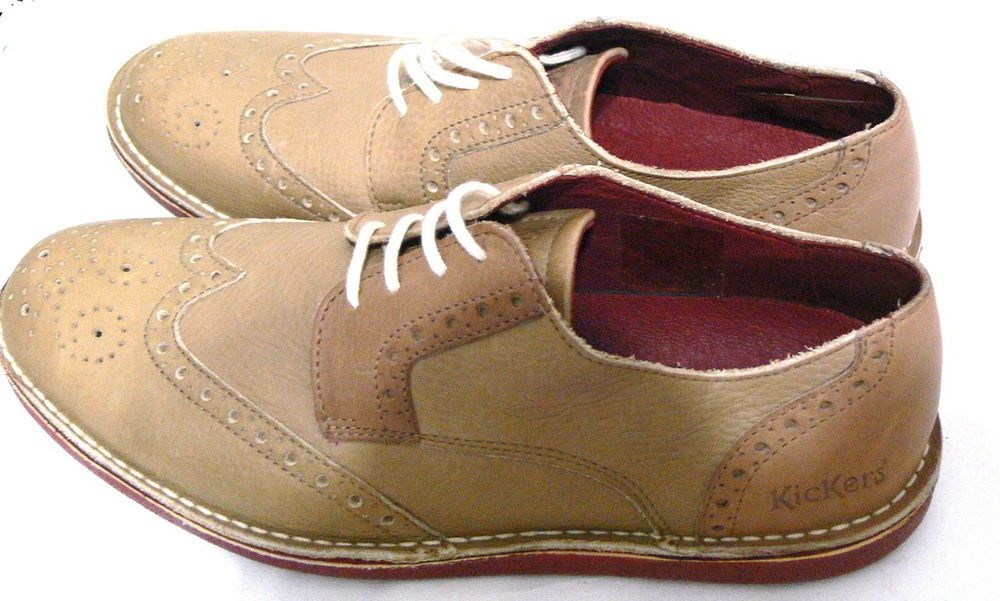 Kickers Men S Urbania Derby Oxford Laces Shoes Size 8 5 Euro 41 Kickers Shoes Lace Oxford Shoes Dress Shoes Men