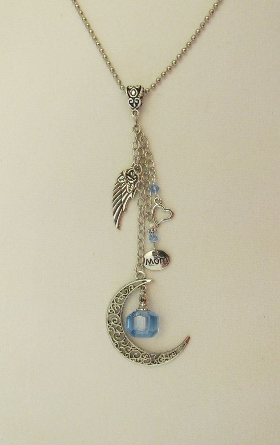 Cremation Ash Urn Crystal Bottle Necklace with Angel Wing Cremation Ash Vial Necklace js2hDZAoa