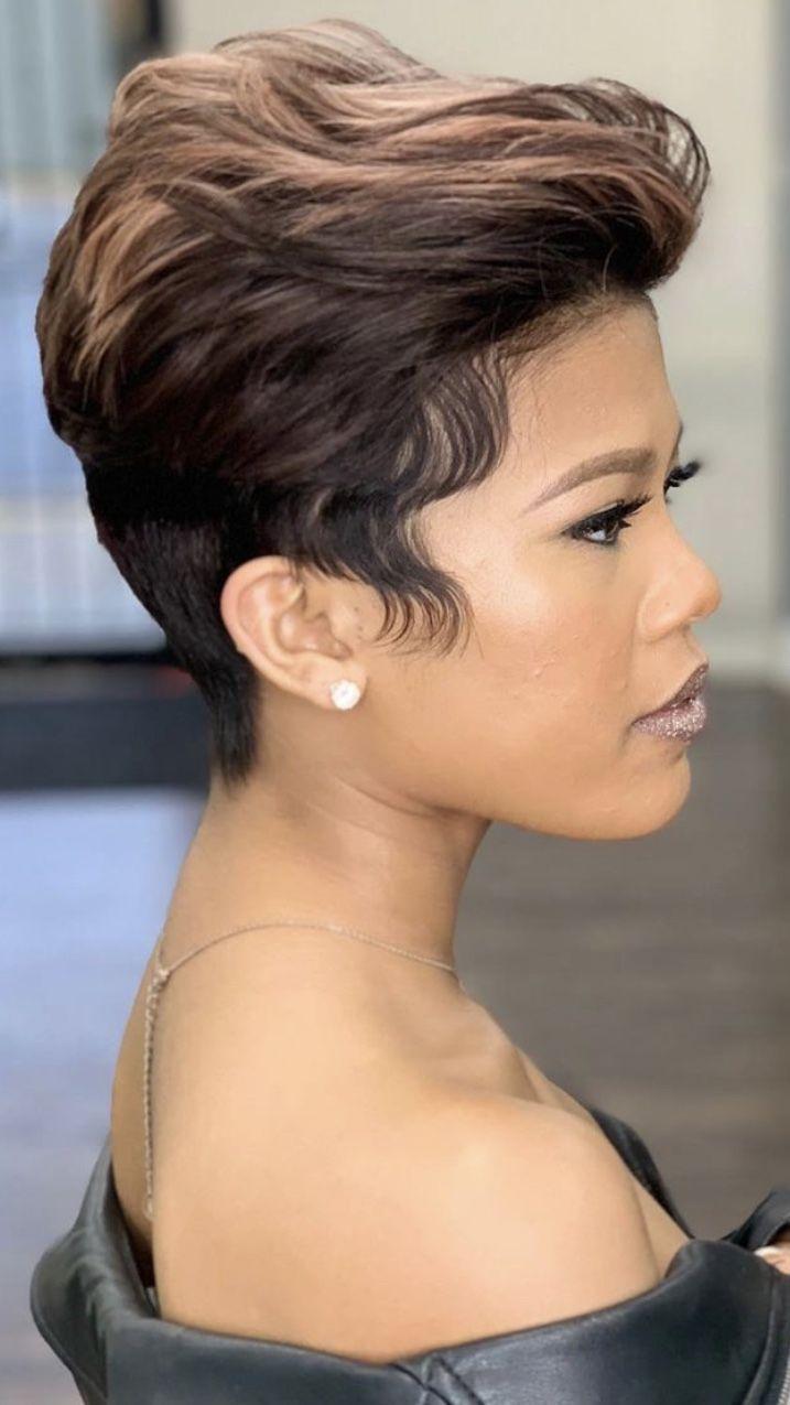 #makeupebony | Short relaxed hairstyles, Short hair styles ...