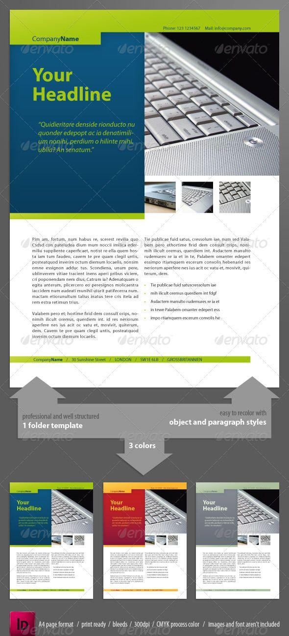 clear newsletter indesign 1 folder print templates newsletter