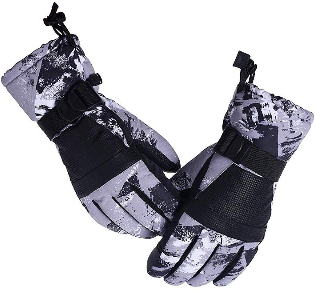 Herren Skihandschuhe Winter Fahrradhandschuhe Wasserdicht Touchscreen Handschuhe