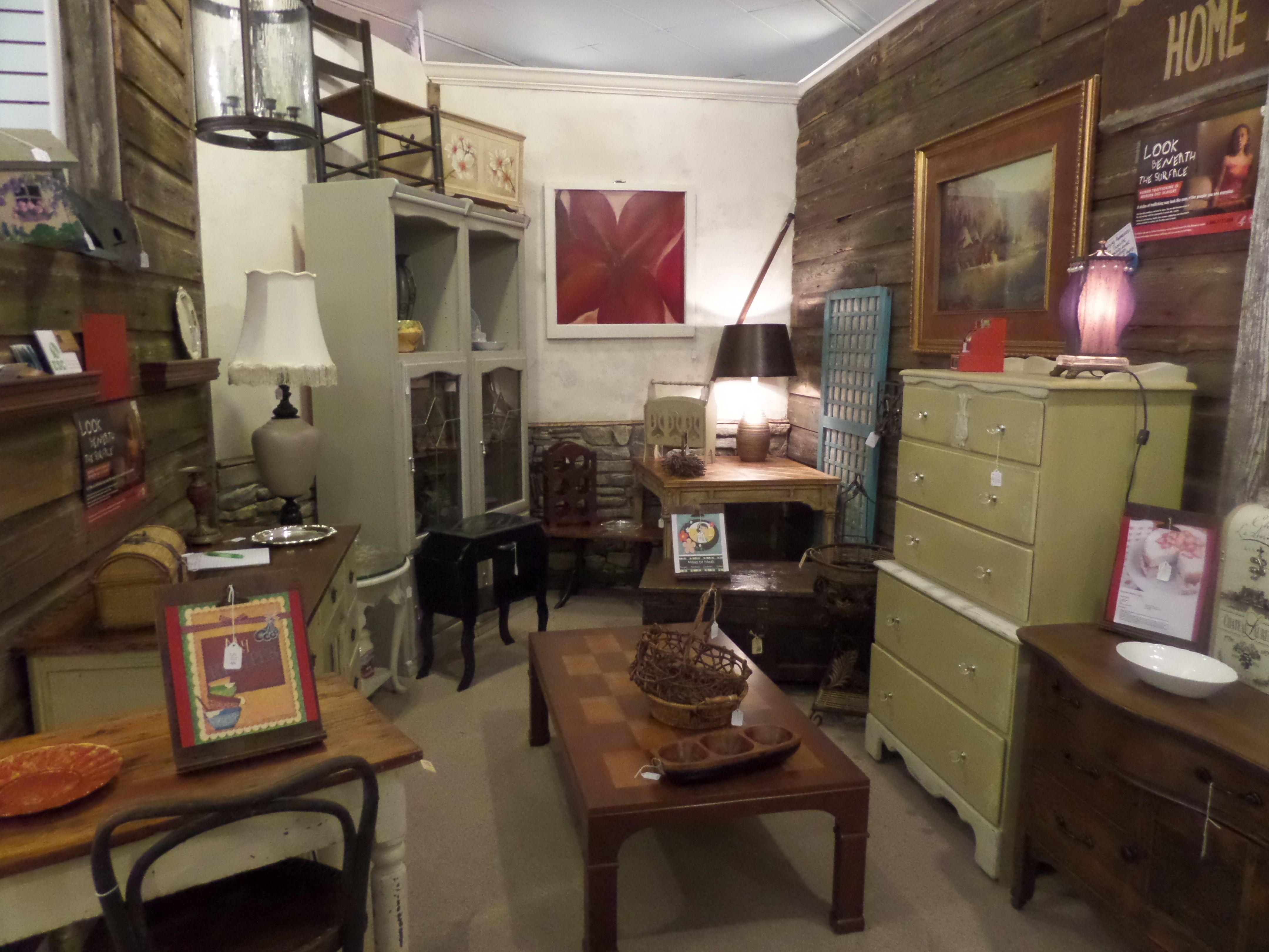 New vintage and handpainted furniture and home decor at our space