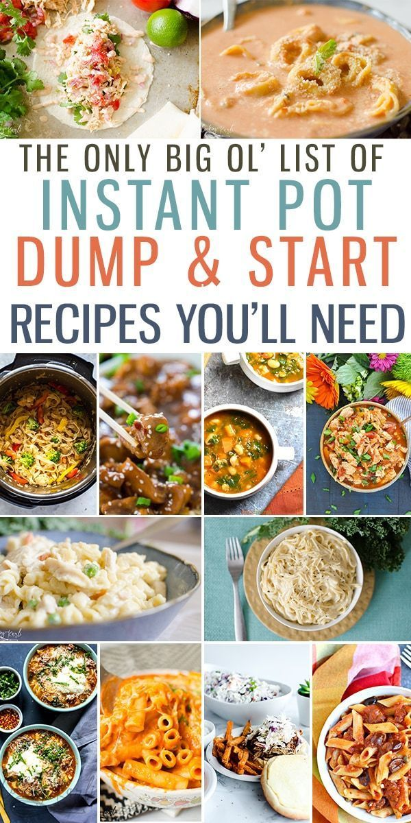 Top 25 Instant Pot Dump and Start Recipes - Cooking With Karli