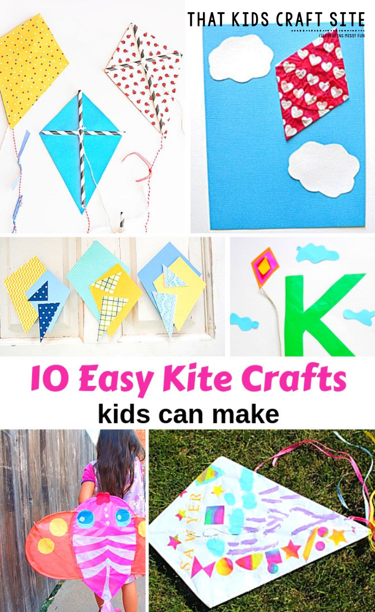10 Easy Kite Crafts For Kids Kites Craft Spring Crafts For