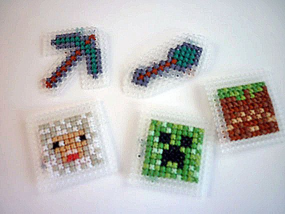 Superior Minecraft Embroidery Magnets   Choose Your Own Set Of 3 Minecraft Cross  Stitch   Great Geek Gift