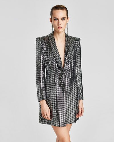 cab387484572 METALLIC BLAZER DRESS-NEW IN-WOMAN | ZARA Ireland | My style ...