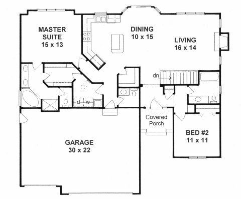 The Ranch is efficient and affordable, with a more open floor plan, lower  pitched