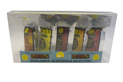 Gift Set, Exotic Worldwide set of spice blends and chillies