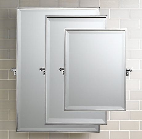 Bistro Rectangular Pivot Mirror   Traditional   Bathroom Mirrors   Other  Metro   Restoration Hardware $285