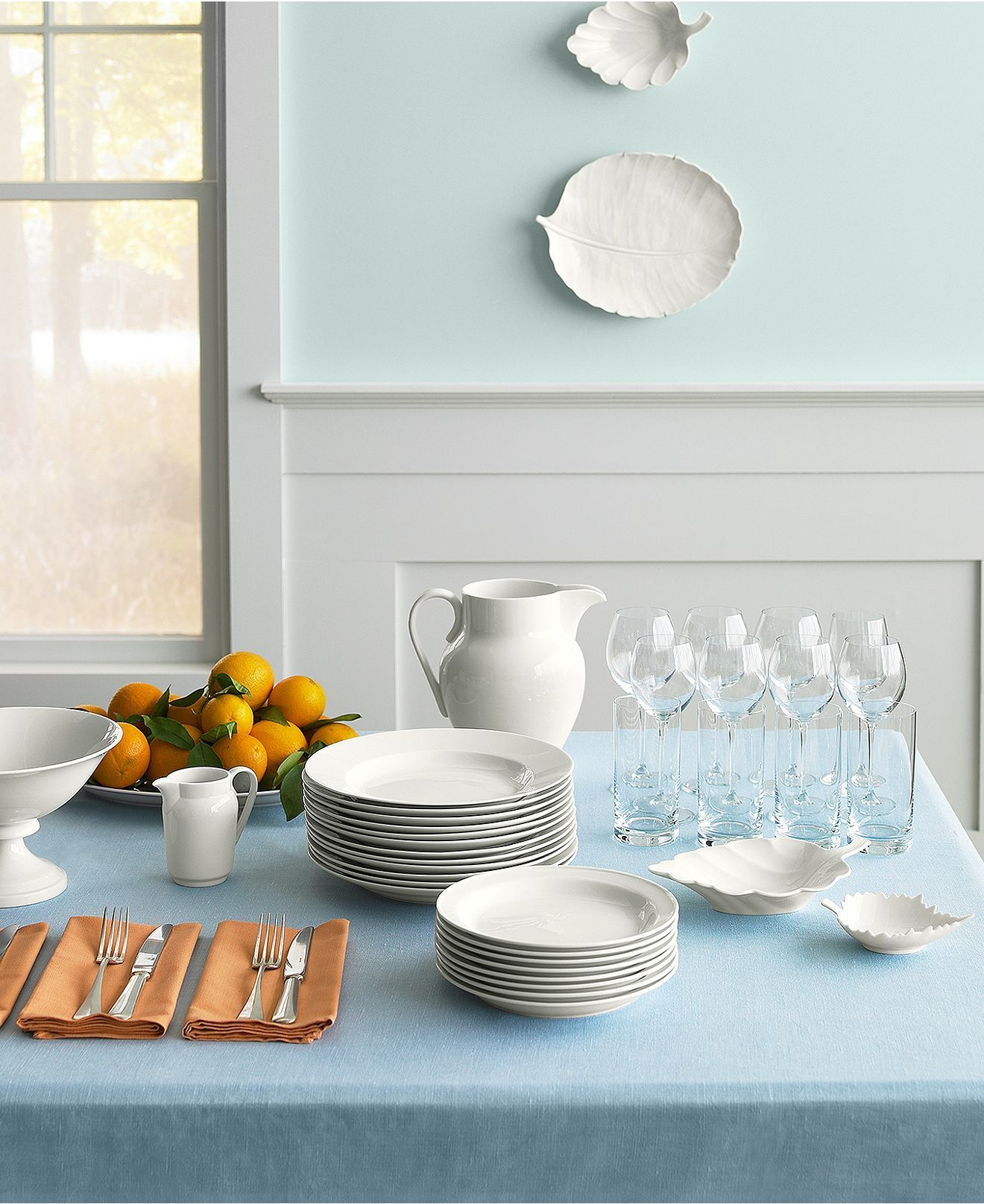 Martha Stewart for Macy's: The simple elegance of basic whiteware is ideal for everyday use.