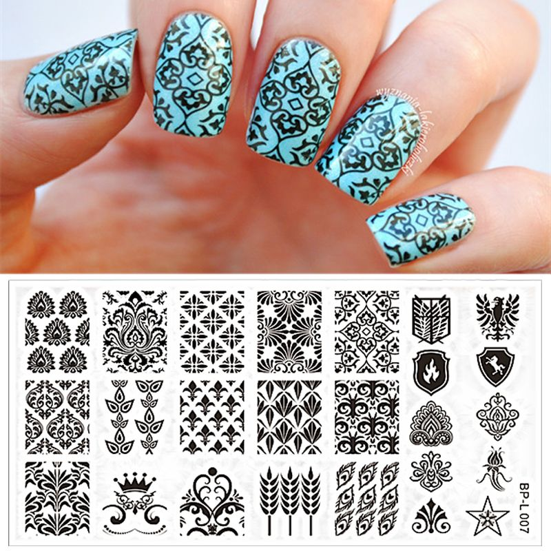 Vintage Damask Nail Art Stamp Template Image Plate BORN PRETTY ...