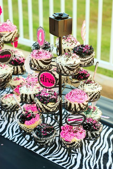Black Pink and White Zebra Party Zebra party Birthdays and Teen