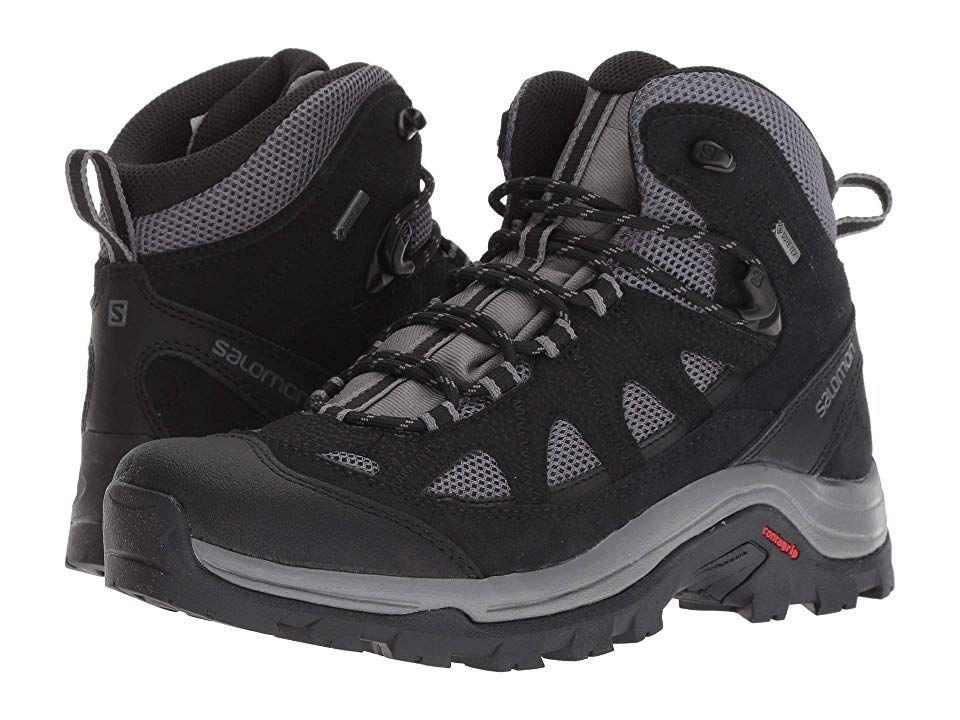 Salomon Mens Authentic LTR GORE-TEX Walking Boots Black Grey Sports Outdoors