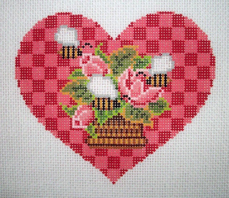 Luca S Love Heart Valentine Cross Stitch Kit Beginner 8.5cm x 11cm