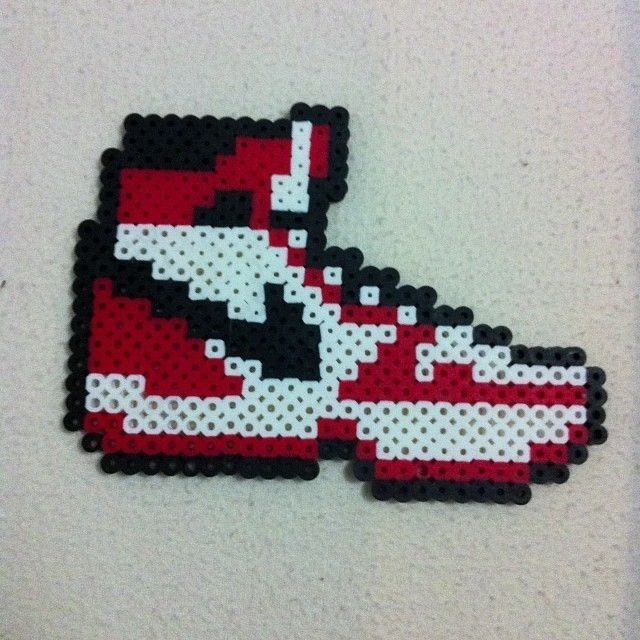 Adidas shoe | Melty bead patterns, Fuse bead patterns