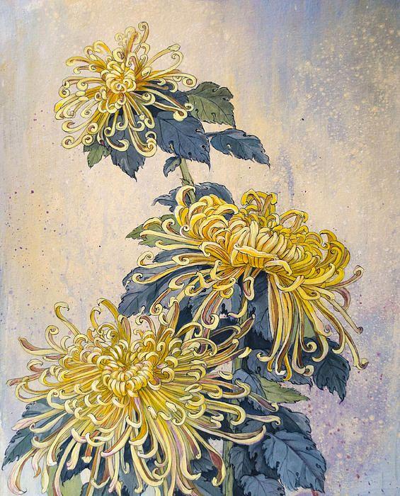 Japanese Chrysanthemum Series Part 2 Autumn Throw Pillow For Sale By Irina Effa 26 X 26 In 2020 Japanese Chrysanthemum Chrysanthemum Painting Japanese Tattoo