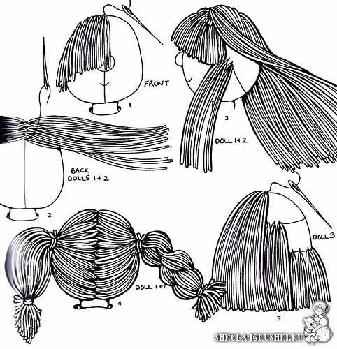 Amigurumi Hair ❥ 4U hilariafina  http://www.pinterest.com/hilariafina/