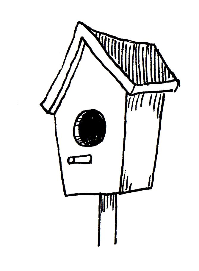 zentangle bird houses | Birdhouse -Clip Art | Zentangle ...