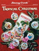 Counted Cross Stitch Books - Stoney Creek - Tropical Christmas $10.95