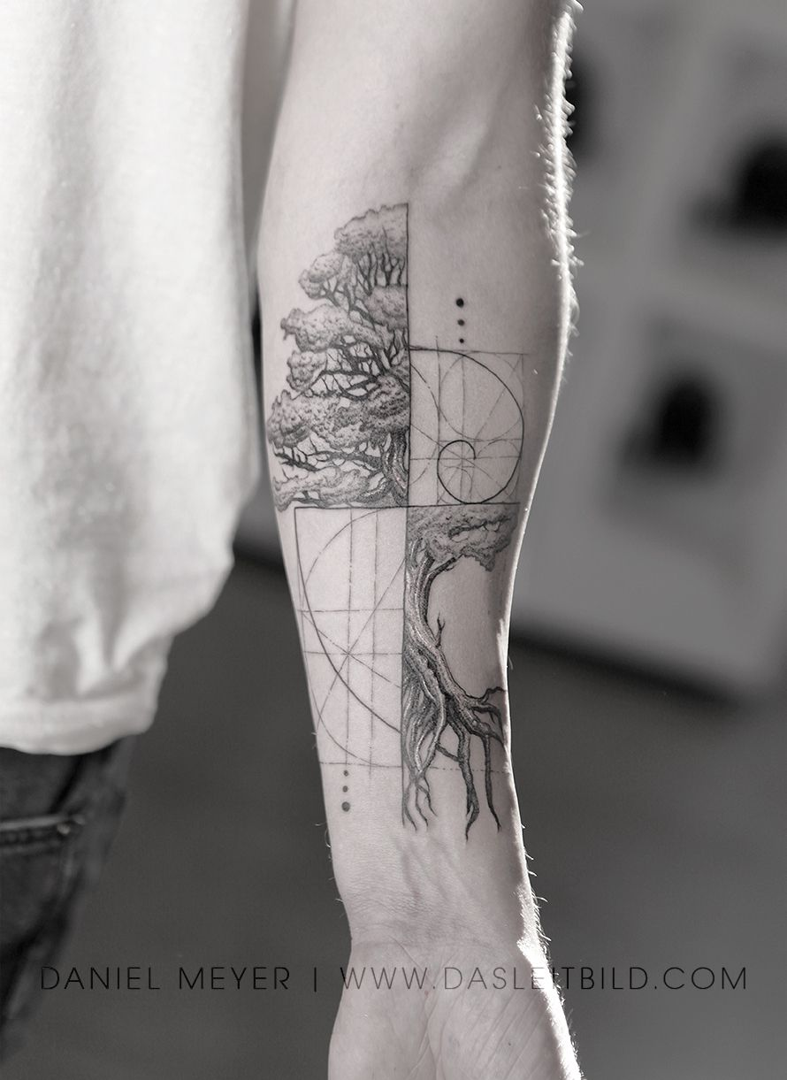 Fibonacci Spiral Intertwined Tree Math Nature For Jonathan Los Angeles Booking Requests Www Dasleitbild Co Spiral Tattoos Fibonacci Tattoo Geometric Tattoo