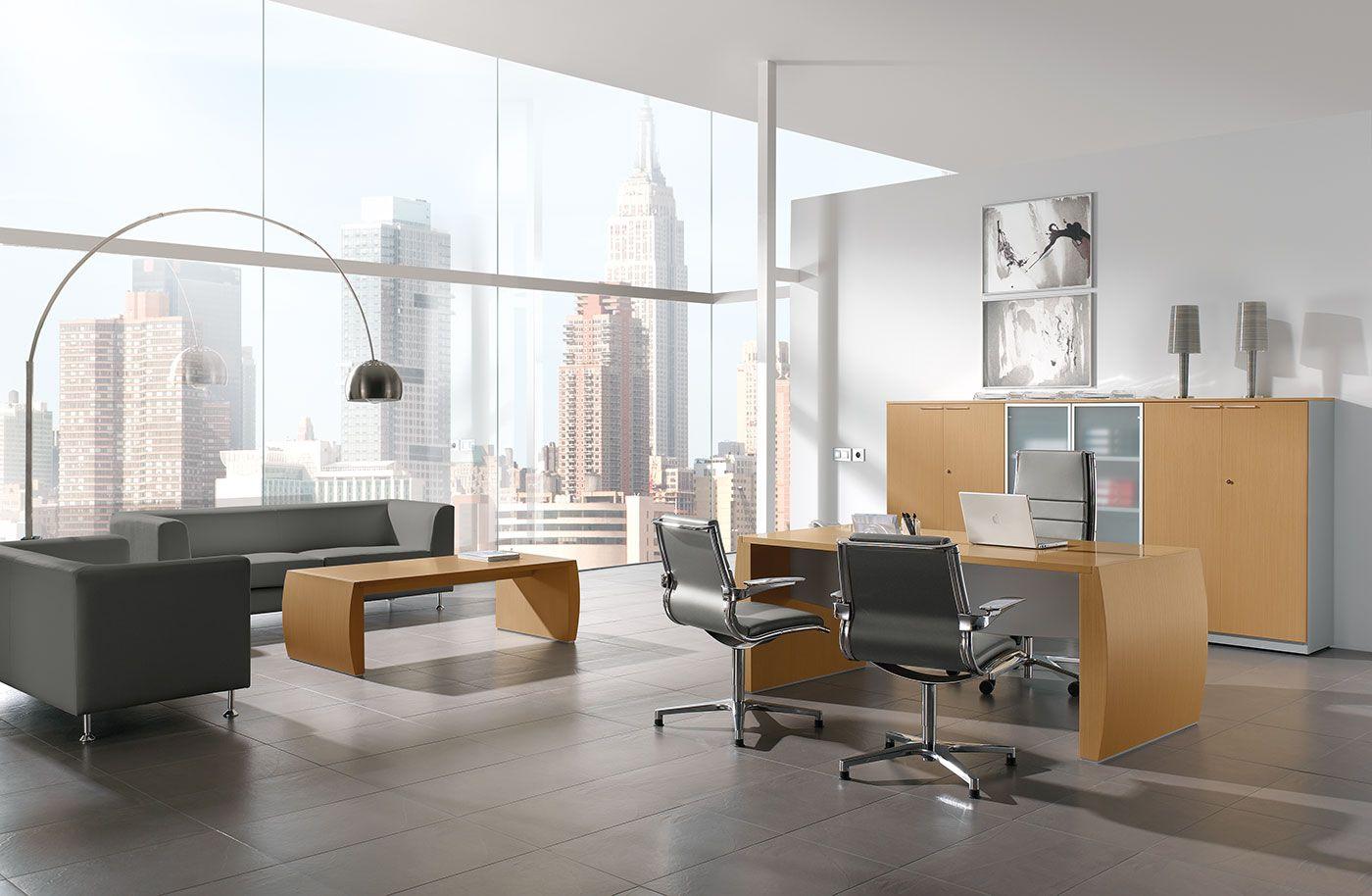 Muebles De Oficina Modernos De La Serie Serena Con Acabados En  # Muebles De Ooficina
