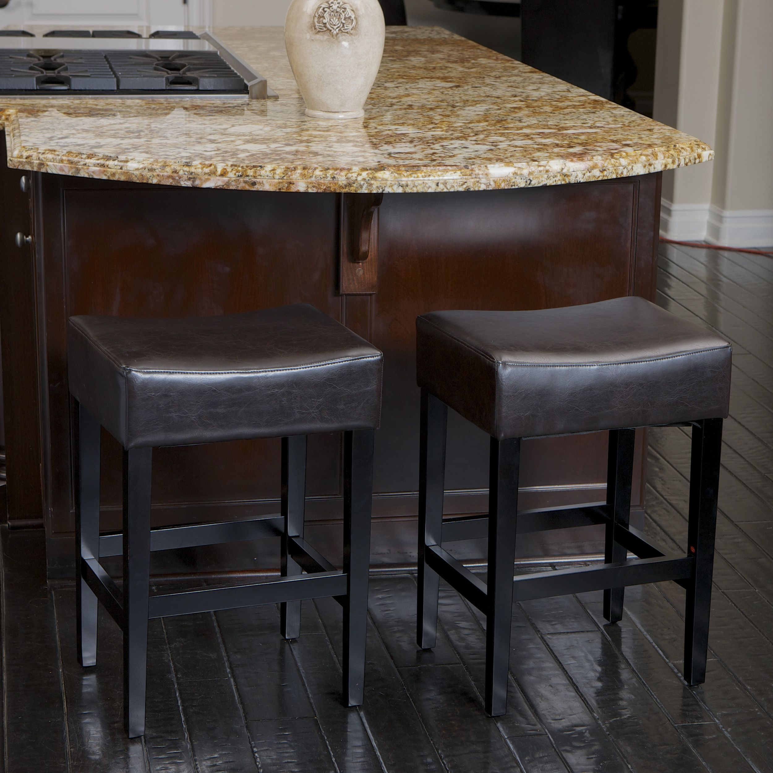 Leather Counter Stools Help Transform A Breakfast Bar Into