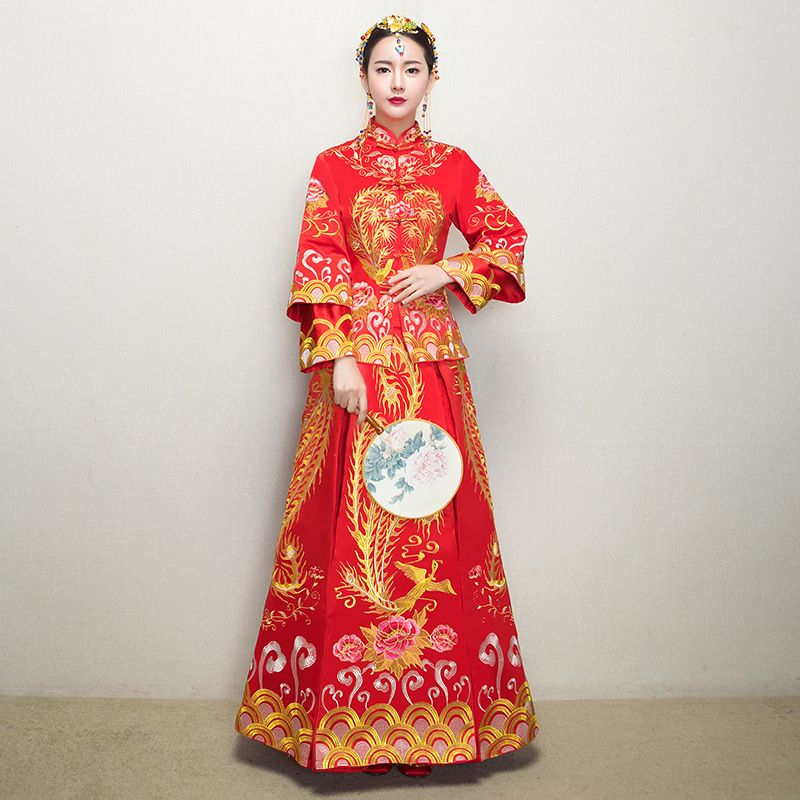 0a88a11db Cheap long cheongsam, Buy Quality traditional chinese wedding dress  directly from China qipao dress Suppliers: Traditional Chinese Wedding  Dress Gown New ...