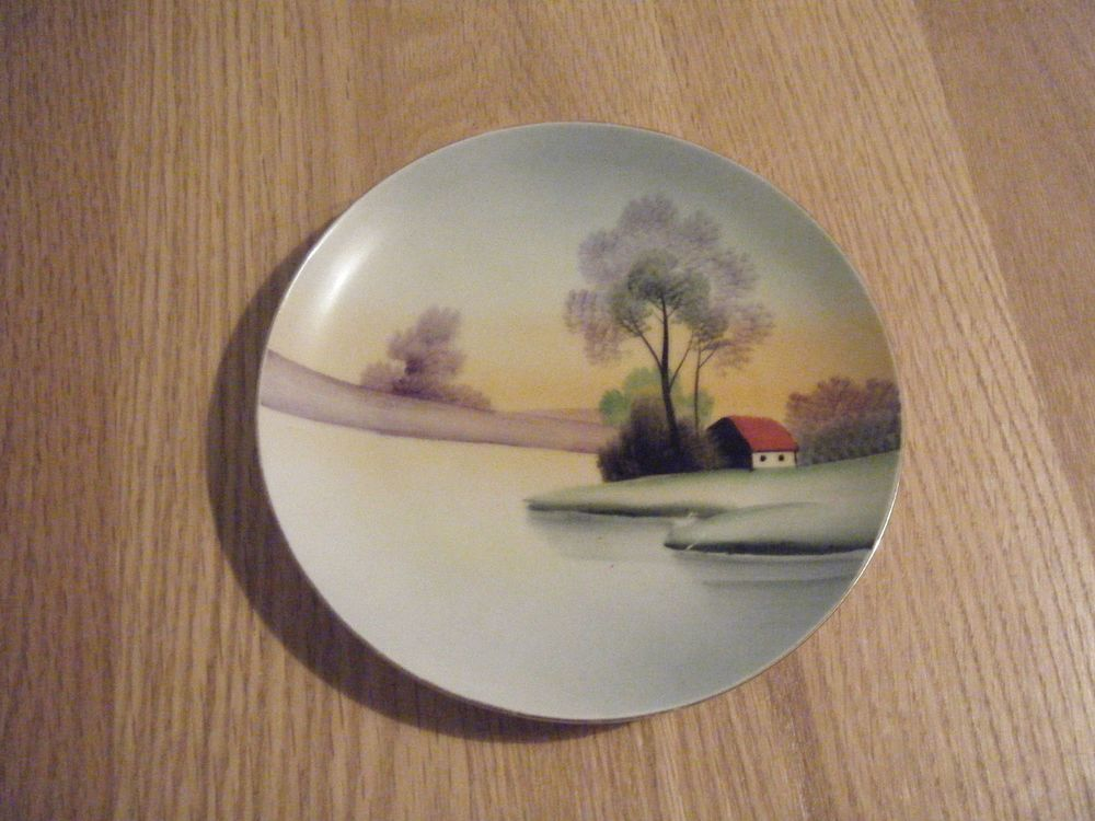 Vintage/antique meito china hand painted collectible plate made in japan  Japan and Pottery