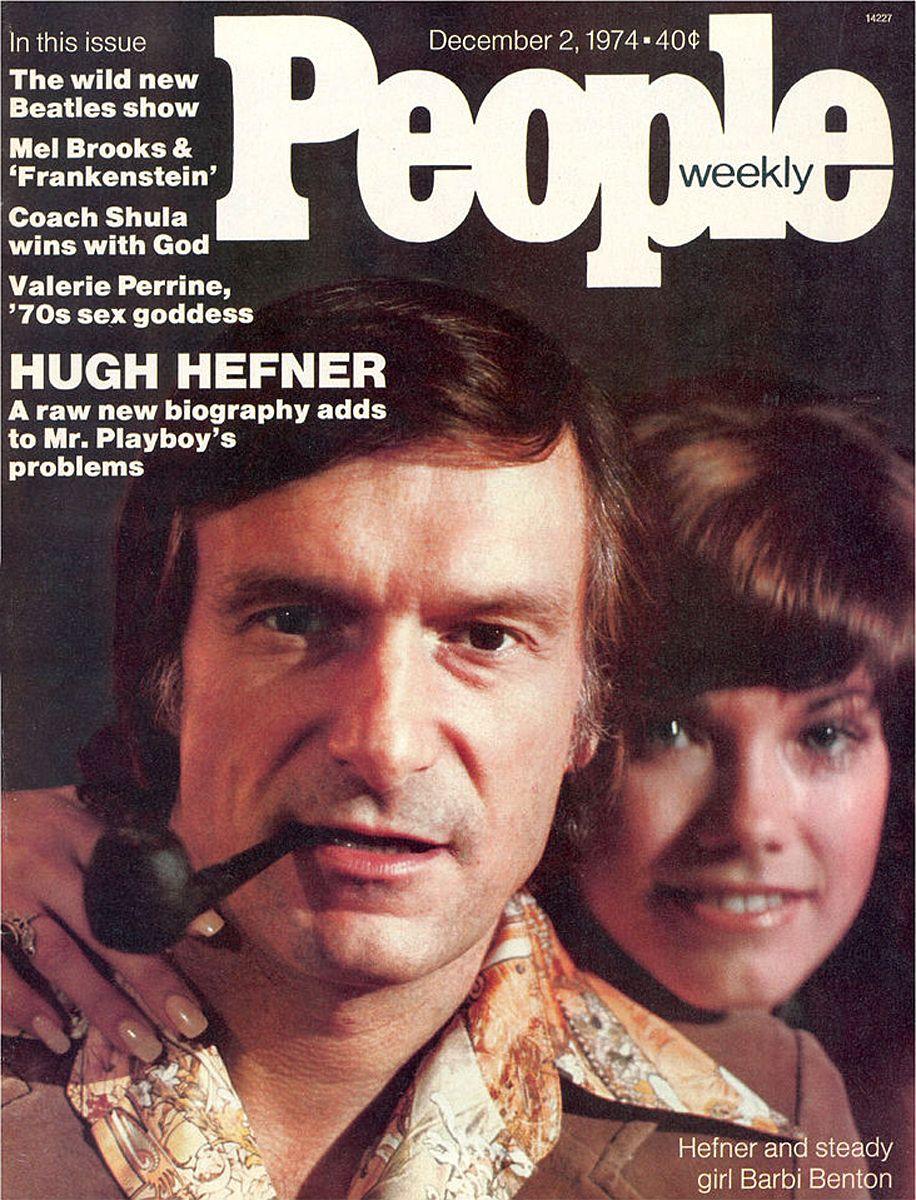 Hugh Hefner chooses a theme for fasting, 1966, USA