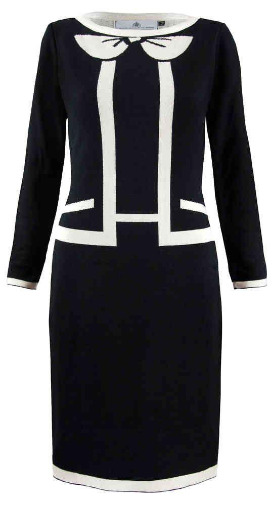 Michael Barnaart van Bergen Suit - kokerjurk zwart wit chanel look black white dress