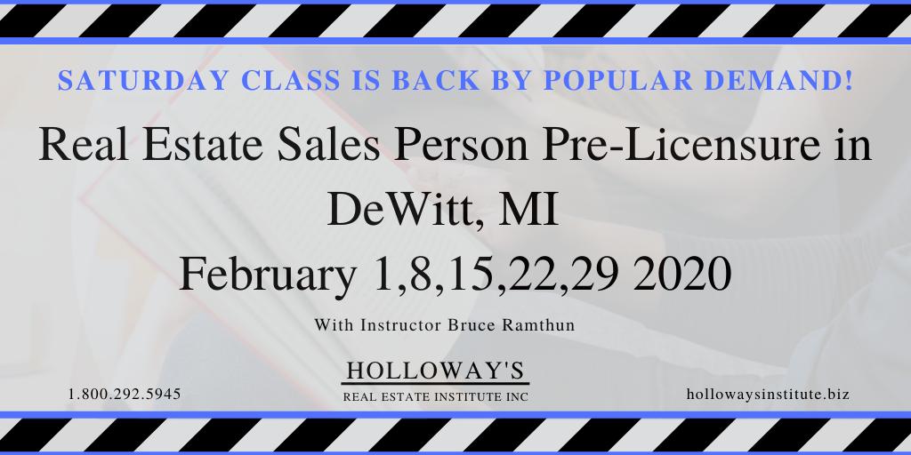Saturday Classes In Dewitt Mi Continuing Education Class Real Estate