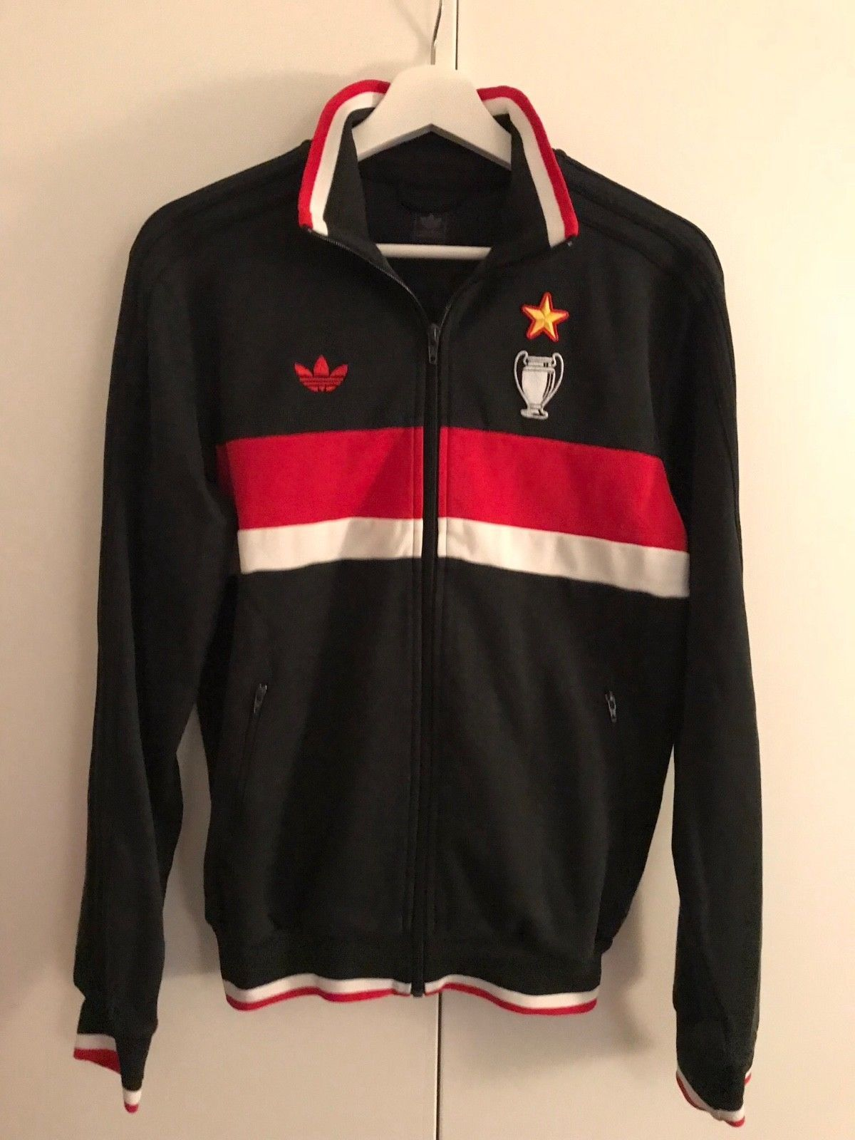 RARE Adidas Originals AC Milan Zip Track Training Jacket