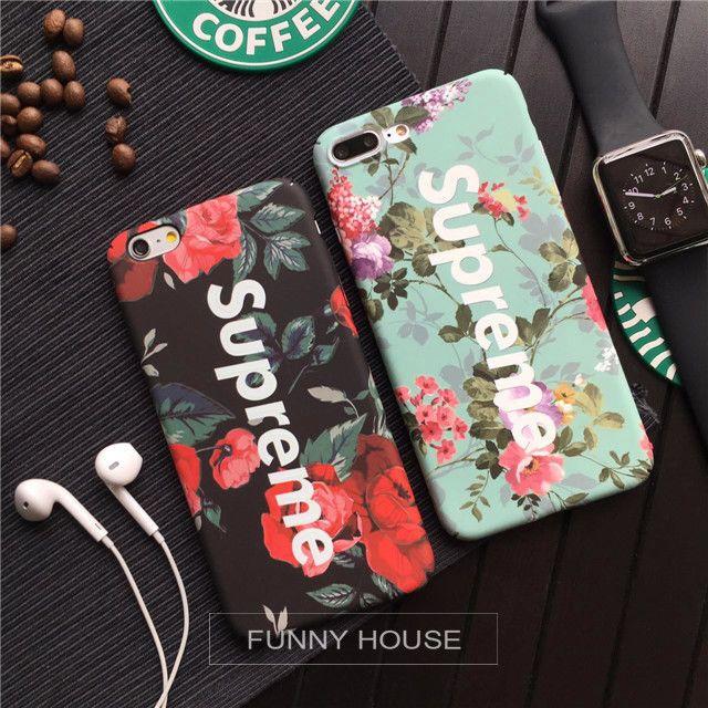 huge selection of ed6d2 e2fe3 Stylish Supreme Rose Luminous Matte Hard Phone Case For Iphone 8 7 6 ...