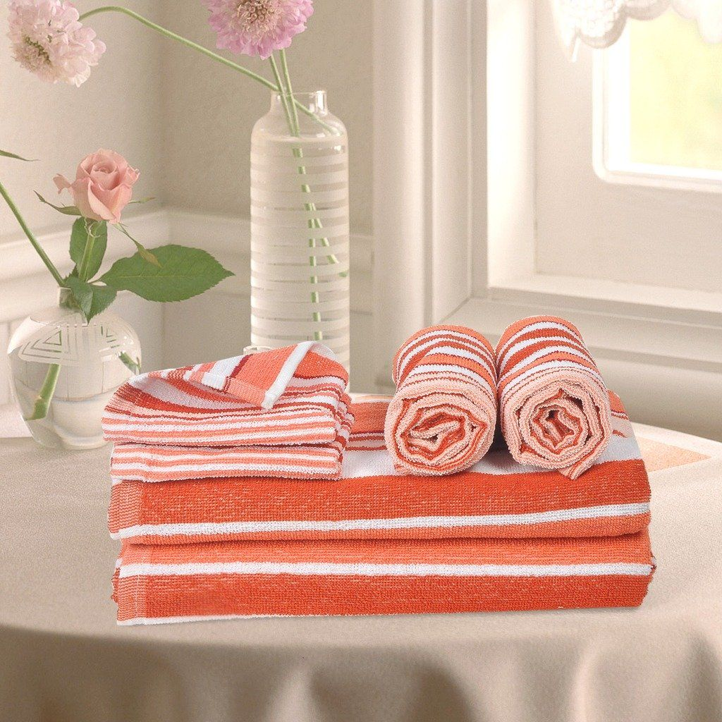 Buy Bath Towels Online In India Orange Color Bathtowels Buy Face
